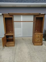 Solid Oak Entertainment Center in Fort Knox, Kentucky