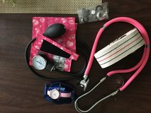 Blood pressure cuff, stethoscope. Heart rate watch in Glendale Heights, Illinois