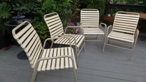 Set of 4 1970's FINKEL PATIO/DECK LAWN CHAIRS in Plainfield, Illinois