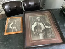 Framed John Wayne & Clint Eastwood in Las Cruces, New Mexico