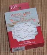 NEW Manor Lane Home Collection Red Shimmer Flexible String Lights 10' 60 Lights in Joliet, Illinois
