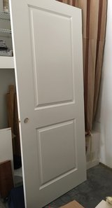 """36"""" Slab Door painted White in Cary, North Carolina"""