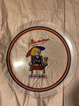 vintage Spuds Mackenzie collectible glass tray 1987 in The Woodlands, Texas