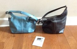 Coach tote light blue or black in Fort Campbell, Kentucky