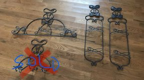 Wrought iron chef plate decor in Fort Campbell, Kentucky