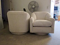 Pair of Swivel Accent Chairs for Den or Living Room in Yucca Valley, California