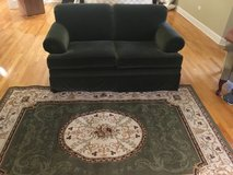 ETHAN ALLEN LOVESEAT - Forest Green, Excellent condition, Barely used in Joliet, Illinois