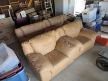 Set of 4 – Upscale All-Leather Plush Chairs for Den or Living Room in Yucca Valley, California