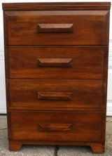 Small vintage Chest - Wood 4 drawer Dresser in Bolingbrook, Illinois