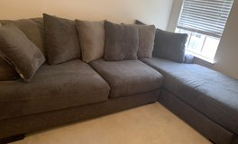 Plush sectional sofa with chaise in The Woodlands, Texas