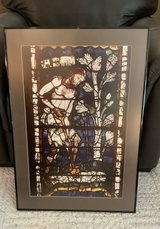 Framed print of stained glass in Canterbury Cathedral in Brookfield, Wisconsin