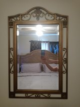 """Large Wrought Iron Wall Mirror 39.5"""" X 24"""" in Baytown, Texas"""