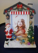 Hand-Painted, Light-Up 5x7 X-Mas Photo Frame in Baytown, Texas