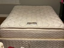 Queen mattress with box spring and mattress cover in Travis AFB, California