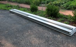 16x7 White Amarr Stratford 3000 Grooved Panel 2 Car Garage Door in Bolingbrook, Illinois
