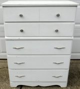 5 Drawer White Painted Chest / Dresser in Bolingbrook, Illinois
