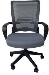 Ergo Office Chair Grey with Black Frame Easy Folding - New! in Bolingbrook, Illinois