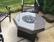 """32"""" Oriflamme Octagon Fire Table with granite top & steel base. in Bolingbrook, Illinois"""