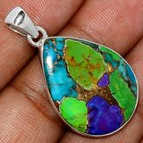 New - Multi Copper Turquoise 925 Sterling Silver Pendant (Can include a chain if needed) in Alamogordo, New Mexico