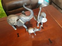 Beautiful hand made brass elephant family in Ramstein, Germany