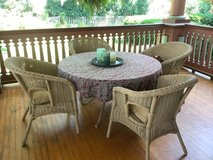 Wicker table and chairs in St. Charles, Illinois