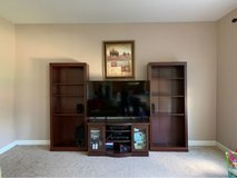 tv stand with two bookcases in Joliet, Illinois