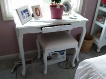 Small Bedroom Table & Upholstered Stool in Westmont, Illinois