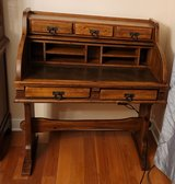 Vintage Link Taylor Rawhide Roll Top Desk in St. Charles, Illinois