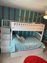 Westbrook White Twin Over Full Staircase Bunk with Twin Size Urban Trundle Bed in Plainfield, Illinois