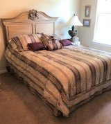 QUEEN BED & MATCHING ARMOIRE / ENTERTAINMENT CENTER in Plainfield, Illinois
