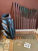 Mens RH PGA Ryder Cup Irons and Match Play Persimmon woods in Plainfield, Illinois