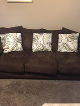 Brown couch in Plainfield, Illinois