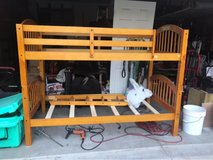 finished pine bunk bed in Plainfield, Illinois
