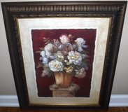 Framed Floral Art Traditional Red II painting by Vivian Flasch in Joliet, Illinois