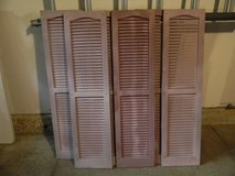 6 used vinyl  house shutters 54 x 14 inches in Glendale Heights, Illinois