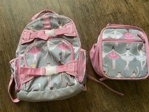Pottery Barn Kids Glitter Dot Ballerinas SMALL backpack & matching classic lunch kit in Kingwood, Texas