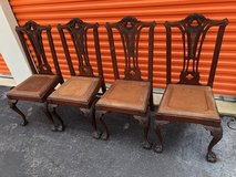 Antique Solid Mahogany Chippendale Chairs 4 in Cherry Point, North Carolina