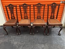 Solid Mahogany Chippendale Chairs 4 in Cherry Point, North Carolina