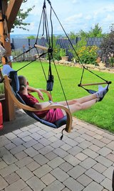 Solid Wooden Relax Swing Chair for Indoor or Outdoor -used but good condition in Spangdahlem, Germany