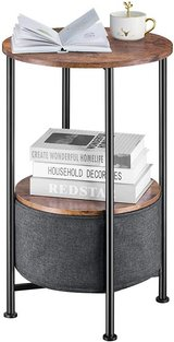 Industrial Round Side End Table with Storage - New! in Chicago, Illinois