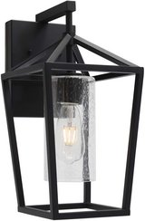 Outdoor Wall Light - Black With Seeded Glass - New! in Chicago, Illinois