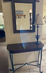 Entry table,mirror and lamp in Travis AFB, California