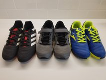 NEW 3 Kids Soccer Shoes Adidas+Saucony Size 4 in Camp Pendleton, California