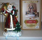 Christmas Double Stocking Holder / St Nick Holiday Tabletop Decor in Joliet, Illinois