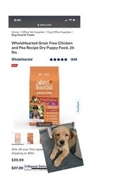 whole hearted puppy food in Travis AFB, California