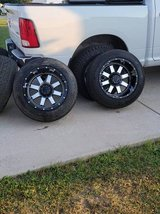 Dodge ram 1500 20 inch aftermarket rims and tires in Vacaville, California