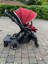 Oyster 2 stroller with Oyster foot muff and Oyster toddler buggy board in Lakenheath, UK