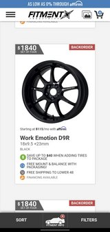 Work Emotion D9R wheels with tires and center caps in Fort Leonard Wood, Missouri
