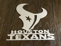 Reduced to $20 Metal laser cut Houston Texans Logo in Spring, Texas