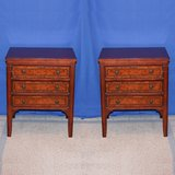 ALL WOOD MATCHING END TABLES NIGHTSTANDS SET OF TWO in Travis AFB, California